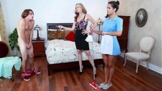 Stepmom Julia Ann Threesome With Maid Abby Lee Brazil